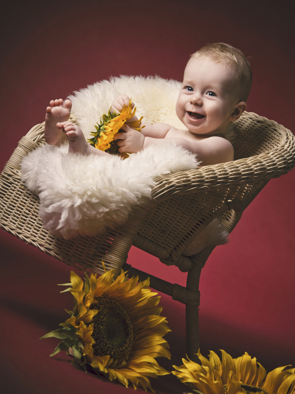Baby Fotoshooting im Fotostudio Wels - Babyfotos vom Profifotografen